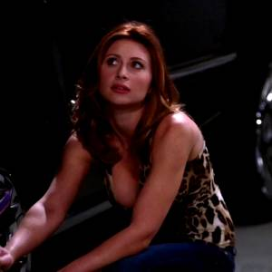Aly Michalka Changing A Tire