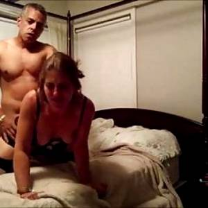 Amateur brunette wife fucked at home