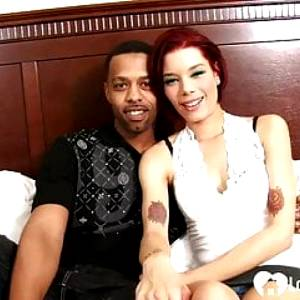 Aroused redhead can handle a big black cock