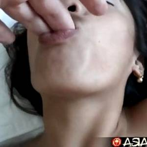 Asian Sex Diary – Filipina gets creampied by big white cock