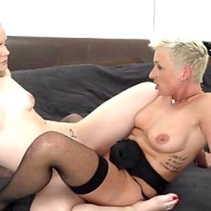Dirty mothers go hard with sexy daughters