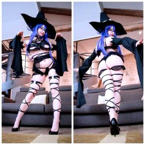 Front And Back Of My Blair Fanservice Version From Soul Eater! Which One Do You Prefer? I Had Much Fun With This Lingerie, I Don't Know, I Just Really Like Straps, Bands, Laced Outfits! ~ By Mikomi Hokina ♥