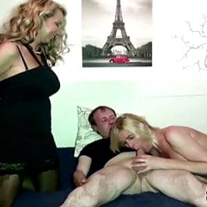 GERMAN MILF CAUGHT SISTER WITH HUSBAND AND JOIN IN 3SOME