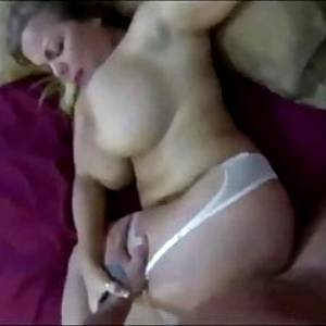 HOT BUSTY MILF IN LINGERIE GETS CREMPIE IN HER HAIRY PUSSY