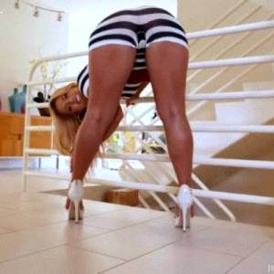 Kelsi Monroe In Zebra Outfit 2 Gymnast Stretches And Gets Stretchedjules Jordan