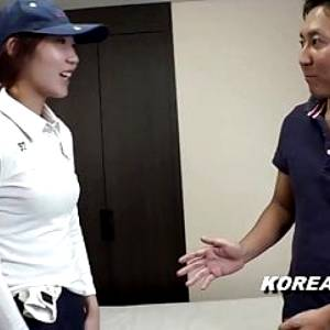 Korean golf star is horny as fuck and films video