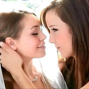Lesbian Foursome with a sexy Bride and her Maids