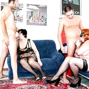 LETSDOEIT – Mature Swingers Party with Two Fat Women