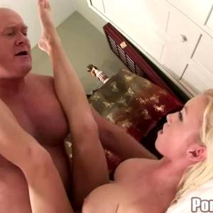 Madison Scott Savours And Swallows Fat Old Man's Cum