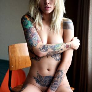 Naked Chick With Tattoos…