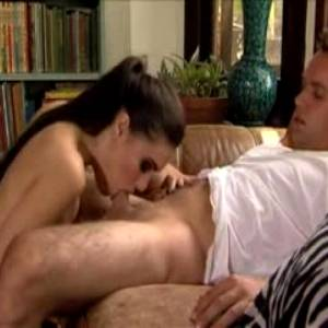Sasha Grey Finishes With Just Her Throat