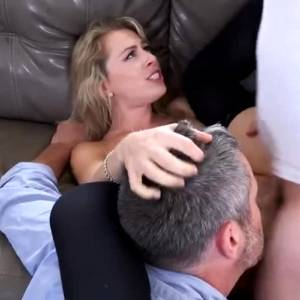Slut Blonde Wife Fucks And Gets A Huge Facial While Husband Watches
