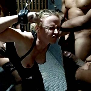Texas Wife Chained and Gangbanged by Blacks